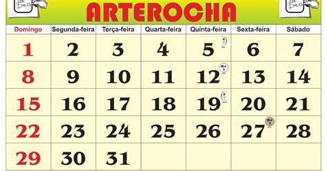 Calendario H M Arterocha Calend 193 Mes De Janeiro 2017