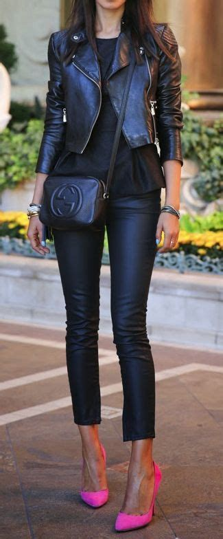 Jacket Muffler Pink 25 best ideas about black leather jackets on