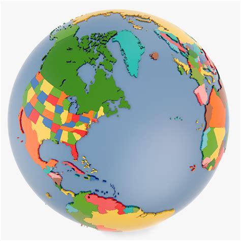 Globe World Map 3d Model