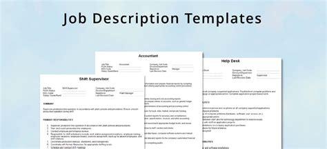 job description layout templates job description template hrvillage com