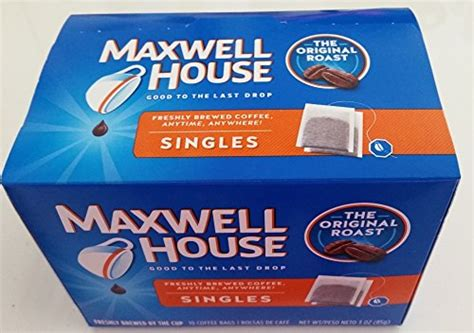 Single Serve Coffee Bags by Maxwell House Original Blend Ground Coffee Medium Roast