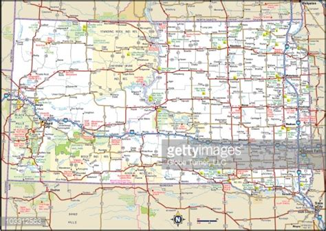 south dakota highway map south dakota highway map vector getty images