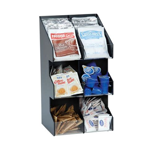 Countertop Condiment Organizer by Dispense Rite Six Section Countertop Vertical Lid
