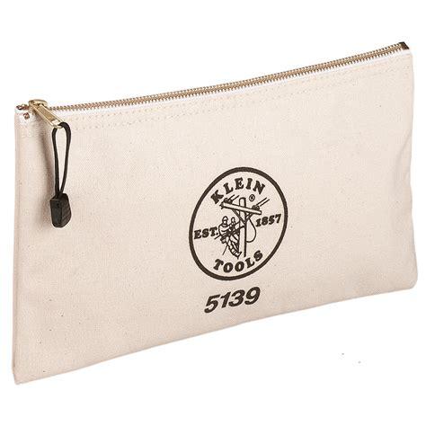 canvas zipper tool bag canvas zipper bag 5139 klein tools for professionals