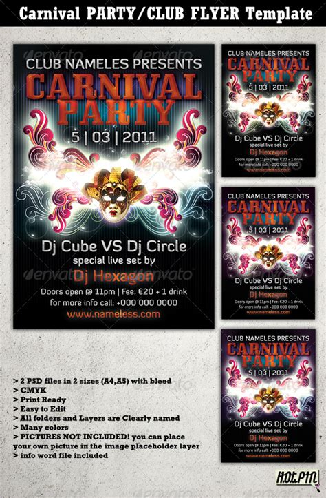 carnival party flyer carnival party club flyer template 2 by hotpin graphicriver