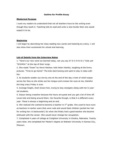 how to write a profile paper on a person writing a profile essay profile essays on a person how