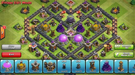 coc layout heart epic town hall 7 farming base build heart design