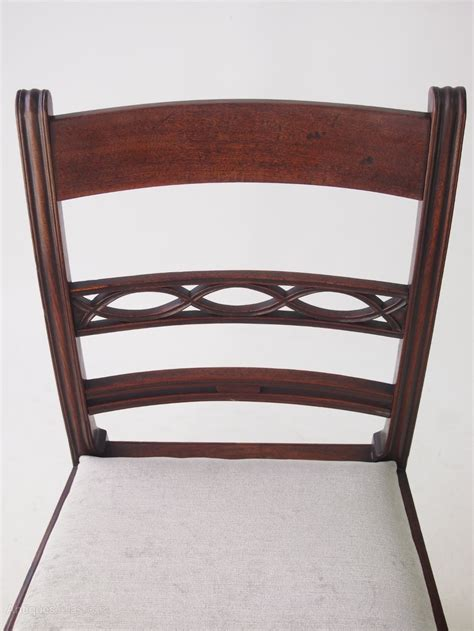 Antique Georgian Dining Chairs by Set 4 Antique Georgian Mahogany Dining Chairs Antiques Atlas