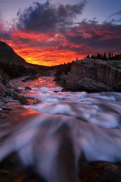 Landscape Photography Glacier National Park Glacier National Park Unfolds Along Swiftcurrent
