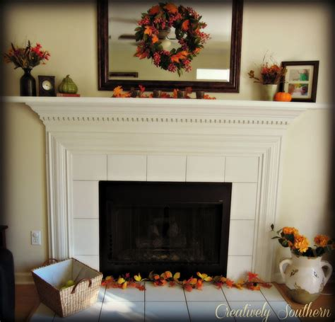 Decorating In Front Of Fireplace by Fall Mantel Decorating Ideas