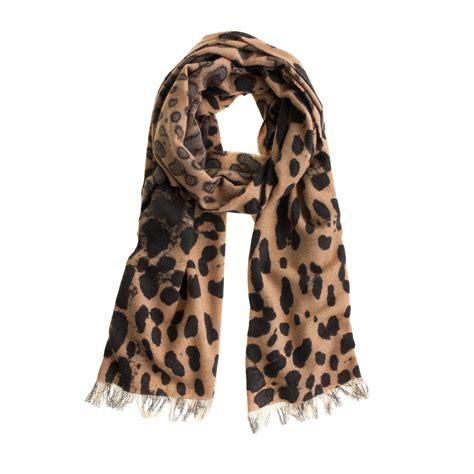 leopard scarf j crew
