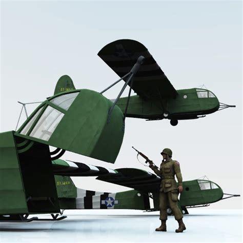 Metal Kitchen Tableware Baru Pp2 us assault glider cg 4a hadrian poser vue 3d model