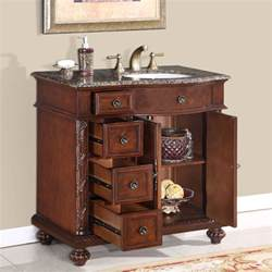 Bathroom Cabinet Vanity 36 Perfecta Pa 139 Bathroom Vanity R Single Sink Cabinet Chestnut Finish Granite