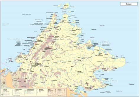 a map sabah maps malaysia travel guide