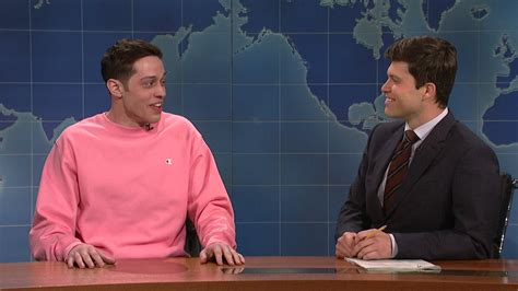 pete davidson update snl watch weekend update pete davidson on mother s day from
