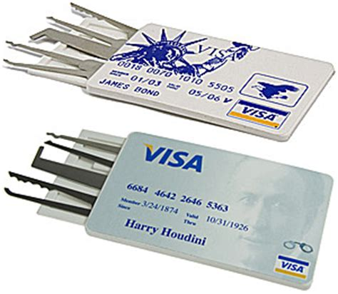 Credit Card Lock Set cool lock picking tools credit card lock set