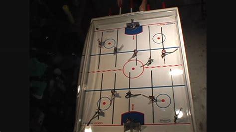 carrom elite stick hockey table carrom elite stick bubble hockey singles game 1 youtube