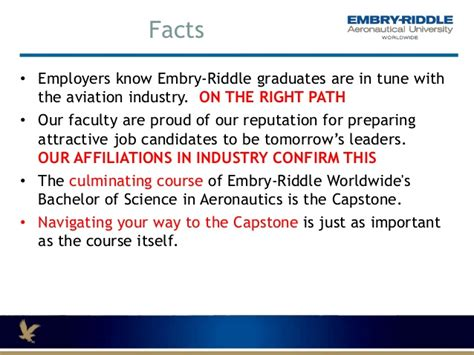 Embry Riddle Diploma Mba In Aviation by Alpha And Omega Program Outcomes To The Capstone