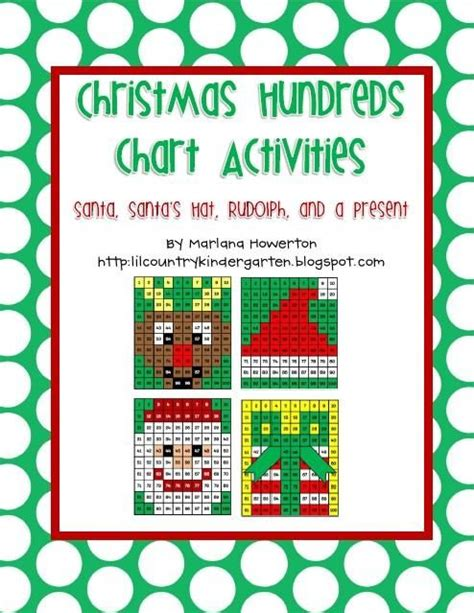 santa chart com hundreds chart charts and santa hat on