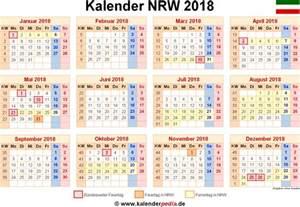 Kalender 2018 Nrw Kalenderwochen Kalender 2018 Nrw Ferien Feiertage Excel Vorlagen