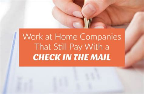 work at home companies that still pay by check
