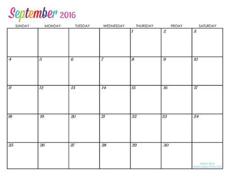 blank calendar september 2016 blank september 2016 calendar pdf search free calendar