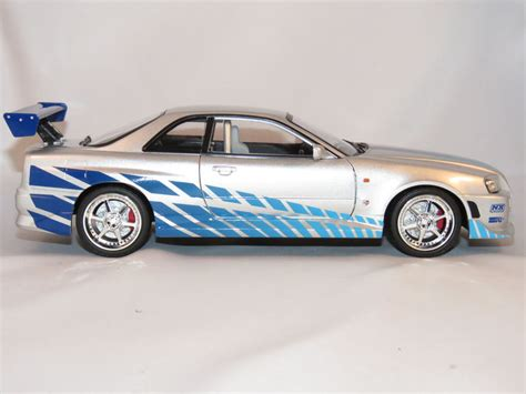 fast and furious 6 brian s skyline greenlight nissan skyline gt r34 2 fast 2 furious brian