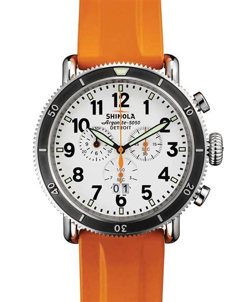 shinola 48mm runwell sport chronograph with rubber