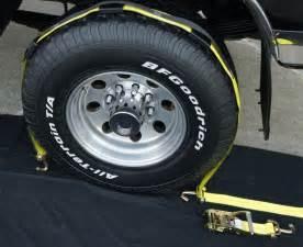 Trailer Tire Tie Straps 8 Usa Car Hauler Auto Hauler Stacker Trailer Tire