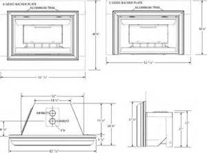 gas fireplace insert opening dimensions