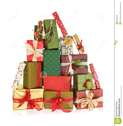 mountain of christmas presents stock photo image of