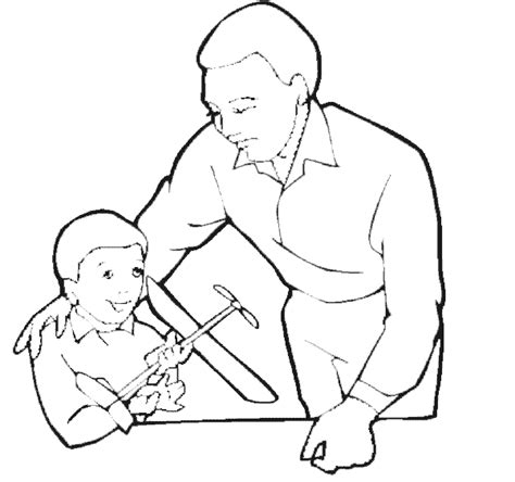 father and son free coloring pages