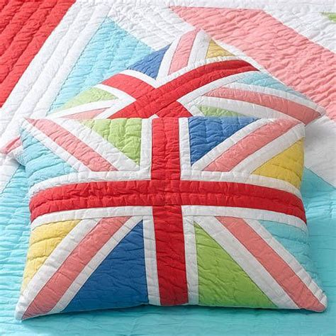 Union Patchwork Quilt - happy patchwork cushion sweet home happy and