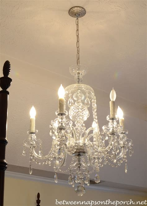 bedroom crystal chandelier resin candle covers and silk wrapped bulbs for the bedroom