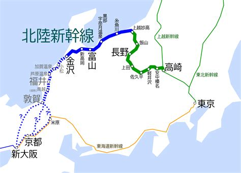 shinkansen map file hokuriku shinkansen map ja png wikimedia commons