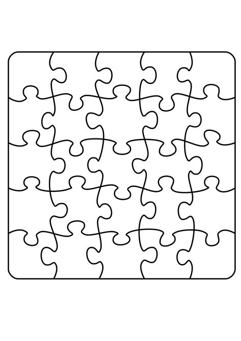 svg puzzle pattern clipart jigsaw puzzle a4 5 x 5