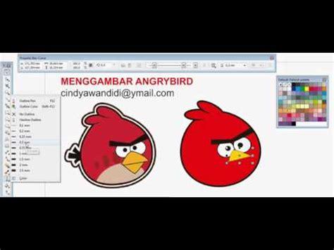 membuat poster di coreldraw x5 langkah langkah desain angry bird di coreldraw rini03yutari