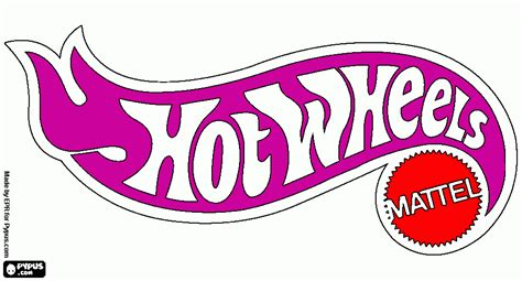 hot wheels logo coloring page, printable hot wheels logo