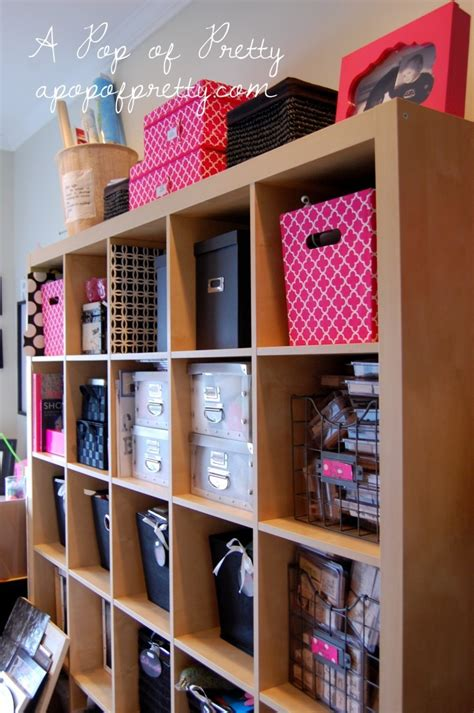 pink craft room pink black pretty craft room office a pop of pretty canadian home decorating