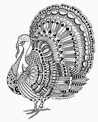 turkey doodle coloring page turkey thanksgiving abstract doodle zentangle zendoodle