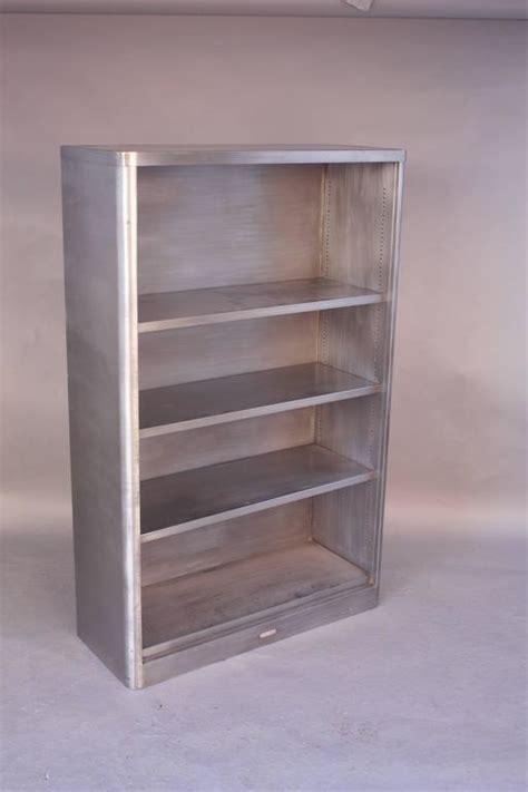 vintage industrial midcentury metal bookcase at 1stdibs