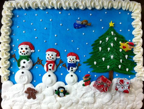 sheet cakes christmas decorated pictures sheet cake decorations happy holidays