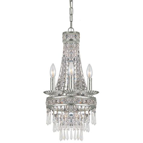 Silver Chandelier Light Mercer Four Light Olde Silver Mini Chandelier By Crystorama