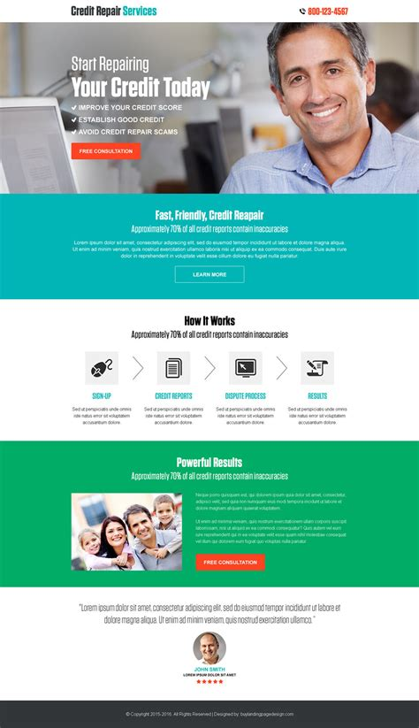 Website Templates For Credit Repair Best Selling Credit Repair Html Landing Page Design Template Website Templates