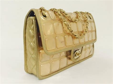 Hiltons Cube Chanel Purse by Chanel Limited Edition Gold Metallic Cube Bag Serial