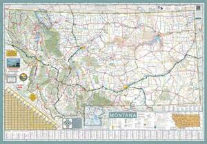 Road Map Montana by Montana State Highway Map Maplets