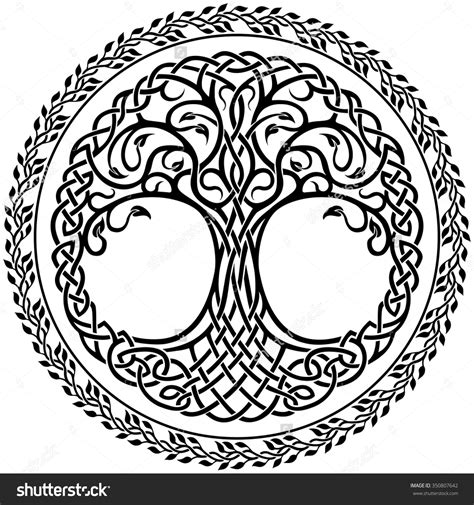 celtic design elements vector vector ornament decorative celtic tree of life with