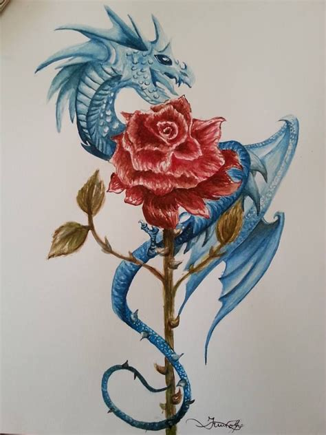 rose and dragon tattoos 53 best images about inky goodness on violet