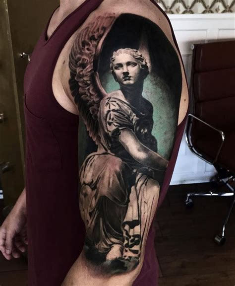 tattoo 3d angel 211 best images about on pinterest half sleeves sleeve