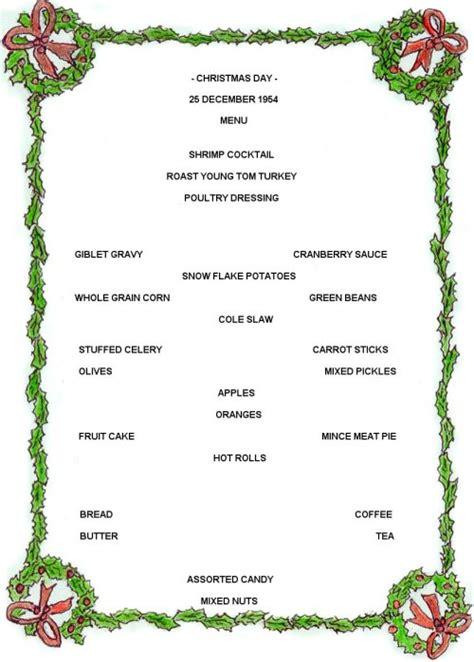 christmas food recipes christmas menu esl resources
